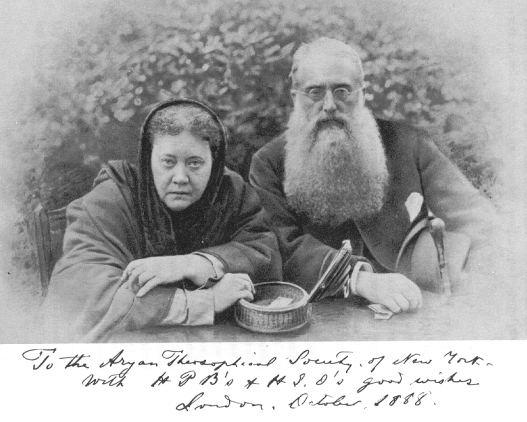 کلنل الکات و مادام بلاواتسکی، بنیانگذاران تئوسوفیسم